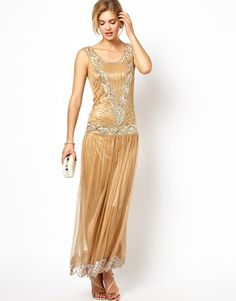 Frock and Frill Maxi Dress with Sequin Embellishment from ASOS