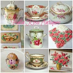 Bella Rosa Antiques: Everything's Coming Up Roses! New Arrivals Are Finally Here! Limoges, Rose Oil Painting, Antique Story Book and More!