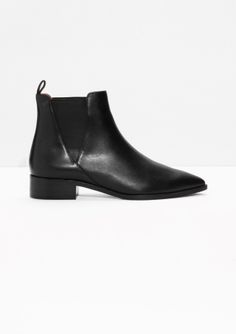 Leather Chelsea Boots | Black Leather | & Other Stories