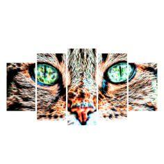 Cat Eyes Canvas Wall Art Print