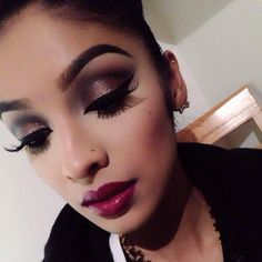 Makeup, lashes
