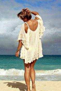 Jen's Pirate Booty Nena tunic in natural: Soleilblue.com