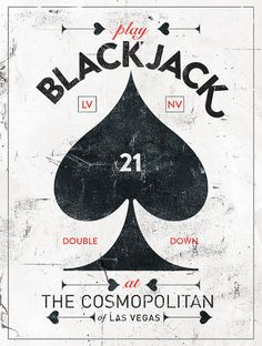 Love the cool retro look of this Cosmopolitan blackjack ad. - www.localsgaming.com
