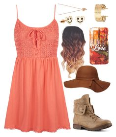 """""""Fall is coming and I can't wait!!!!"""" by a-good-old-southern-belle ❤ liked on Polyvore featuring Topshop, Dorothy Perkins, Pamela Love and H&M"""