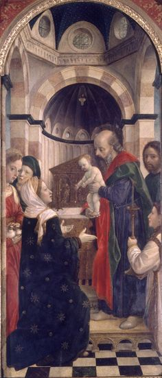 Presentation at the Temple // ca. 1460-1470 // Vincenzo Foppa // Pinacoteca di Brera // #ChildJesus #Christ #Purification