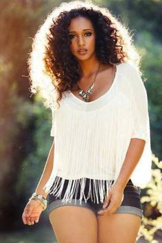 Curvy and curly. Love it! - Black Hair Information Community