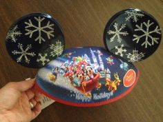 Disney Parks Mickey Ears Happy Holidays Light Up Christmas Hat