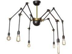 Black Widow Brass Spider Chandelier