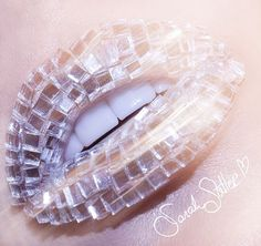 shimmer , shine rhinestone lip art
