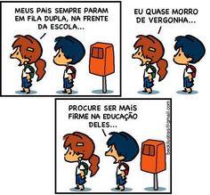 Literatura Learn Brazilian Portuguese, Good Humor, Funny Cartoons, Mythical Creatures, Comic Strips, Peanuts Comics, Clever, Jokes, Lol