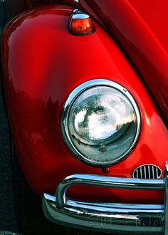 He had a red Volkswagen bug. Vw Bugs, Kdf Wagen, Retro, My Favorite Color, My Favorite Things, I See Red, Vw Vintage, Vintage Signs, Simply Red