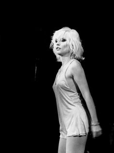 Debbie Harry, onstage with Blondie, LA 1979.
