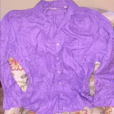 Caribbean men's Large purple button down. No tags Purple,never worn,only washed once,and no dryer used. Caribbean Other
