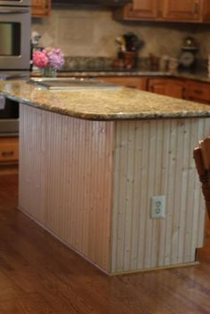 our life in a click: {Updating The Abode} - Bead Board Kitchen Island Reveal