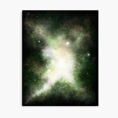 Green Galaxy, Galaxy 2, My Canvas, Canvas Prints, Art Prints, Bright Stars, Top Artists, Print Design, Vibrant Colors