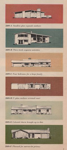 Home Building Ideas 1959 2 - Mid Century Floor Plans - [post_tags Mini Loft, Mid Century House, Mid Century Style, Mid Century Modern Design, Modern House Design, Mid-century Modern, Tableaux Vivants, Vintage House Plans, Poster Design