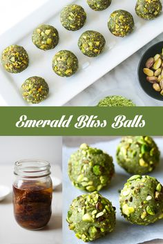 All natural ingredients used to make these delicious Emerald Bliss Balls!  Get the full recipe here: www.facebook.com/thegoldennumberco www.thegoldennumber.etsy.com