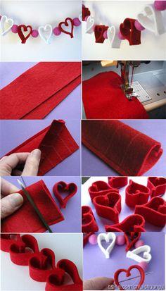 Mind-Blowing Valentine's Day Art Ideas You Cannot Help Loving - Valentinstag Valentines Day Decorations, Valentine Day Crafts, Christmas Crafts, Valentine Heart, Valentine's Day Crafts For Kids, Diy And Crafts, Arts And Crafts, Heart Crafts, Craft Club