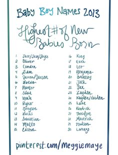 Brand New Baby Boy Name List Popular Names That Are Rising In The Number Of