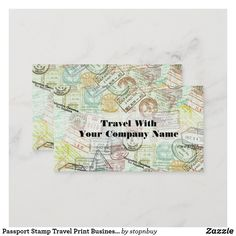 Passport Stamp Travel Print Business Card   Zazzle.com