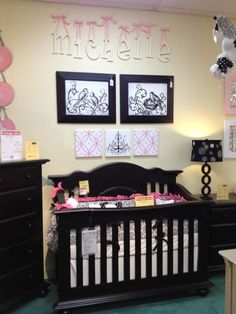 Nursery Idea get your matching wooden letters at www.funkyletterboutique.com