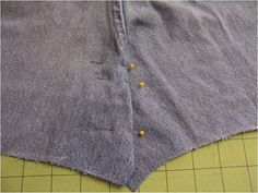 how to sew seat of jeans flat Art Threads: Wednesday Sewing - Bib Apron from Jeans