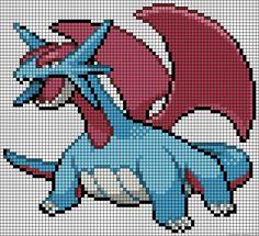 Pokemon dragon perler bead pattern
