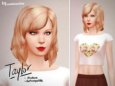 * STATUS tested, little ragged but nice variety - by LumiaLover Sims - 'Taylor' Hair