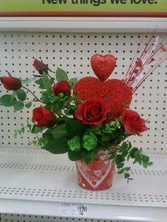 Heart Valentine's Table arrangement