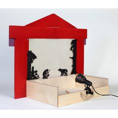 The wooden shadow theatre Shadow Theatre, Toy Theatre, Shadow Art, Shadow Play, Projects For Kids, Crafts For Kids, Puppets For Kids, Paper Puppets, Paper Crafts Origami