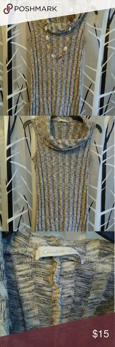 Sleeveless sweater dress Knee length sweater dress, stretchy . Can wear by itself or pair with some boots and jewelry to dress it up. Necklace isn't for sale. Price is firm, no trades or offers Charlotte Russe Dresses