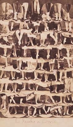 The legs of the dancers of the Paris Opera, 1864 Retronaut | Retronaut - See the past like you wouldn't believe.
