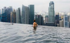 """Singapore from the Marina Bay Sands infinity pool; just one big """"Export Processing Zone"""""""