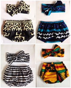 African print Baby diaper cover and head wrap- bloomers ankara kente african fabric by ZiZiandGrace on Etsy https://www.etsy.com/listing/245487968/african-print-baby-diaper-cover-and-head