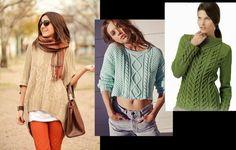 Женские джемпера или пуловеры представляются в 2016 году укороченными моделями и более длинными вариациями, которые нередко используются по факту платьев. Отличительной особенностью моделей выступает однотонность используемой пряжи. Sweater Skirt, Knitting, Skirts, Sweaters, Image, Dresses, Bella, Fashion, Tejidos