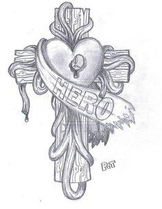 Hero Tattoo Design - Watermarked