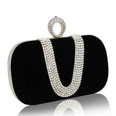 Crystal Evening Bag Women Clutch Bags Lady Luxury Wedding Purse Party Rhinestones Handbags Red/Black Evening Bag