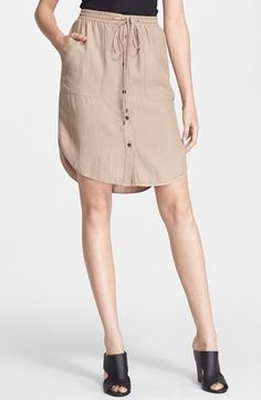 Vince+Button+Front+Skirt+available+at+#Nordstrom