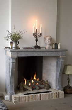 use your antique stone and brick fireplace as a real one if it allows, why not add a cozy feel Decor, Ikea Living Room, Living Room Decor Fireplace, Installing A Fireplace, Home Decor, House Interior, Fireplace Decor, Fireplace, Classic Fireplace