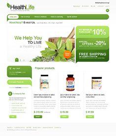 green eCommerce web design
