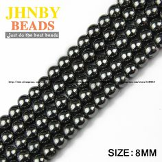 Top quality Natural Stone Black Hematite beads Round Loose bead Stone ball Selectable For Jewelry bracelet Making Bracelet Making, Natural Stones, Jewelry Bracelets, How To Make, Gifts, Top, Products, Balls, Bracelet