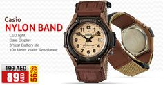 AED 89/- only! Casio Nylon Band Watch For Men, FT-500WC-5BVDF  Buy NOW>>> awok.co/kJCHUx , www.awok.com