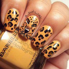 Roar jaguar nails I would so wear that if I had tth chance tp