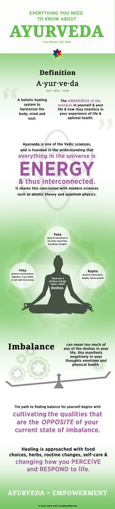 Get your life in balance with Ayurveda.
