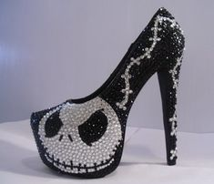 Unique'z — NIGHTMARE BEFORE CHRISTMAS HEELS (JACK SKELLINGTON)