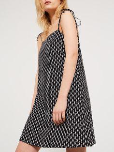 Black Tie shoulder slip dress