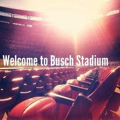 Welcome to Busch, where you can drink a cold Bud on a warm Summer's night while watching the best team in baseball!
