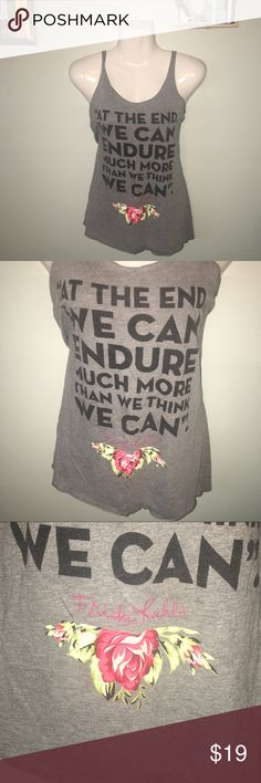🔴💃🏽Inspiration #FridaKahlo #Quote Tanktop NEW L #FridaKahlo #Boutique #Quote #Tanktop NEW L 💃🏽PRICE FIRM unique piece. Twice Chic Boutique Tops Tank Tops