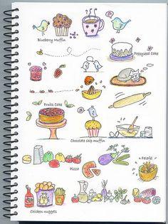 Some food doodles... | Flickr - Photo Sharing!