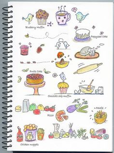 Some food doodles... by no@, via Flickr